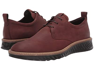 ECCO ST1 Hybrid Plain Toe Tie (Brandy) Men