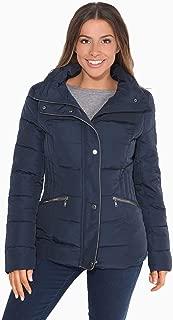 Krisp Women Ladies Quilted Padded Puffer Jacket Funnel Neck Warm Puffa Winter Coat