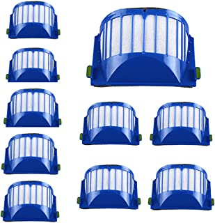 10pc Pack Filter Irobot Roomba 500 551 552 564 580 5 630 650 Series Vacuum Cleaner