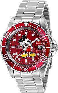 Invicta de los hombres 'Disney edición limitada' automático de acero inoxidable reloj Casual, color: plateado (modelo: 24609)