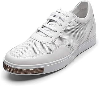 CHAMARIPA Scarpe da Basket con Rialzo Uomo Pelle Sneaker Fino a 6 cm H72C55K121D