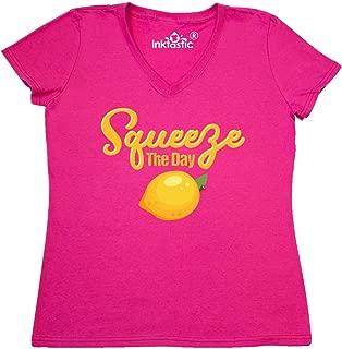 Lemon Squeeze The Day Women's V-Neck T-Shirt