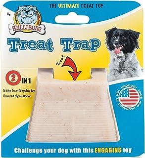 Nylon Dog Chew Toy - Bullibone Treat Trap - Power Chewer Treat Puzzle Bacon Long Lasting Chew Toy, Engages Playful Behavio...