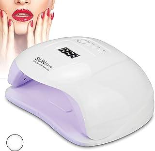 Lámpara de uñas LED profesional de 120 W para manicura y pedicura de 120 W | Secador de uñas semipermanente de gel, brillante, temporizador automático y sensor de manos (blanco)