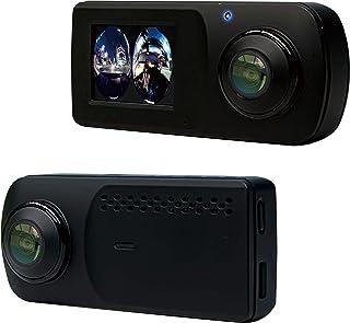 KEIYO ドライブレコーダー 360°カメラ前後2つ搭載 車内からの死角を極限まで軽減 2.0インチタッチパネル液晶で簡単操作 WDR対応で夜間に強い GPS内蔵でマップと連動 全天球録画 AN-R090