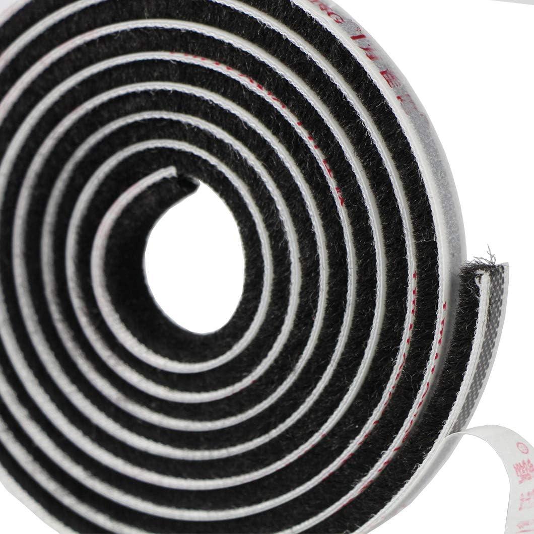 joint /à brosse porte EDGEAM Bande d/étanch/éit/é autocollante pour porte fen/être boudin de porte /Étanche /à la poussi/ère fen/être 5 m de large x 5 mm de haut Pour penderies blanc