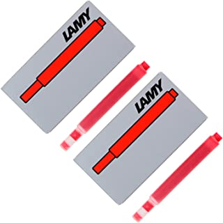 Lamy Fountain Pen Ink Cartridges, Red Ink, Pack of 10 (LT10RD)