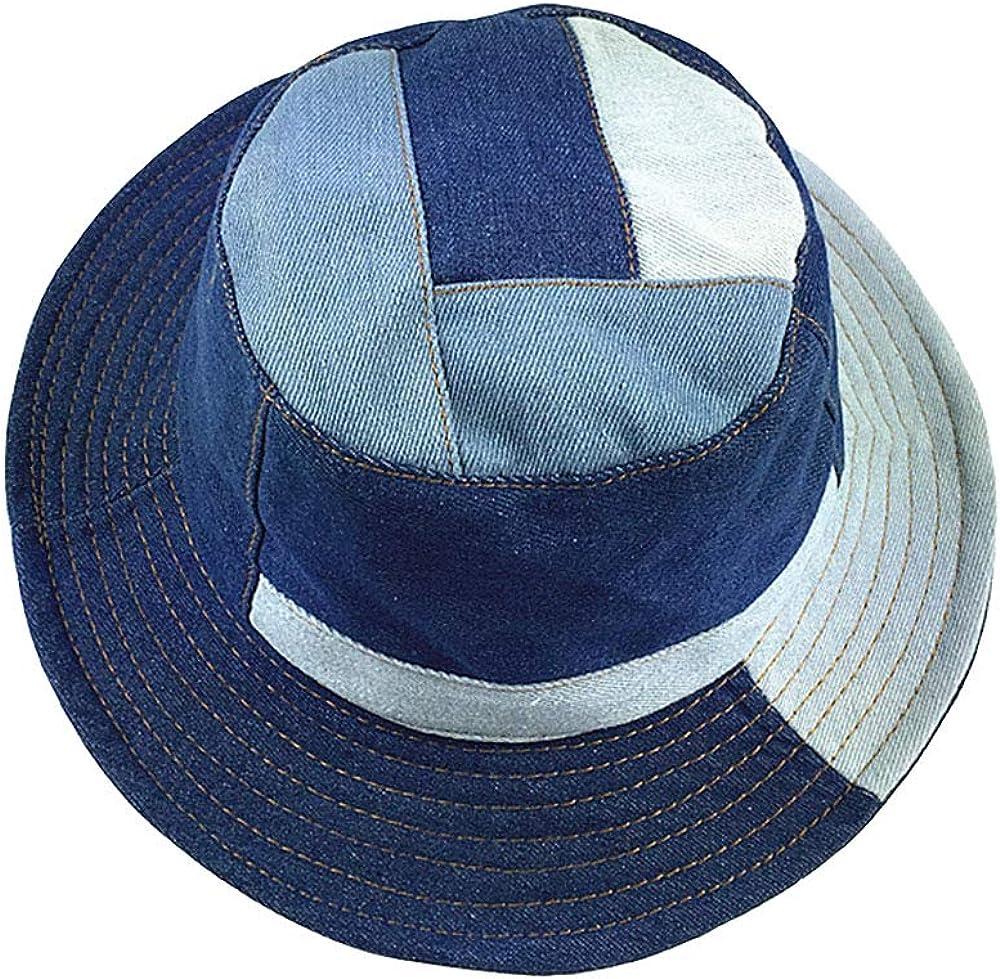 SINLOOG Bucket Hats, Unisex Wide Brim Hats,Packable Denim Fisherman Caps