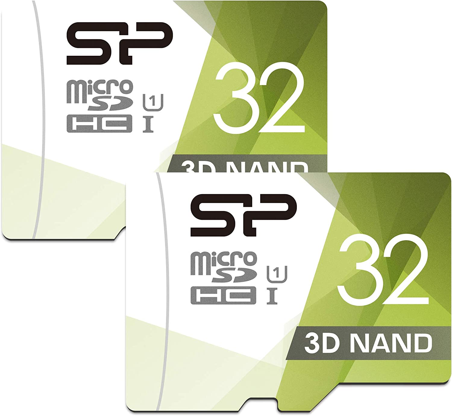 Silicon Power 3D NAND 32GB 2-Pack MicroSD Card with Adapter