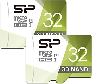 Silicon Power 32GB Dual Pack High Speed MicroSD Card with Adapter (S2032GBSTHBU1V1GAC)