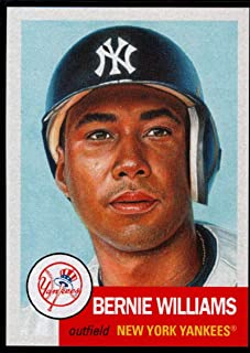 2019 Topps The MLB Living Set #229 Bernie Williams New York Yankees Official Baseball Trading Card with Facsimile Red Autograph on Back