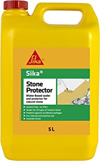 Sika Stone Protector - Water Based Sealer and Protector For Natural Stone, Clear, 5 Litre