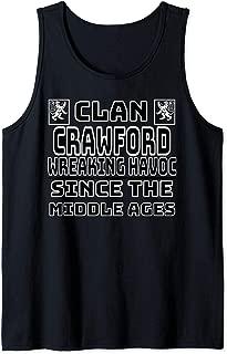 Crawford Scottish clan Family Kilt Tartan Lion Tank Top