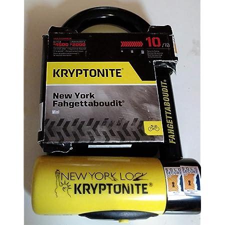 Kryptonite Bügelschloss New York Lock Fahgettaboudit 3500301 Sport Freizeit