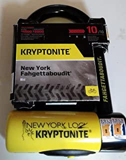 Kryptonite New York Fahgettaboudit Mini Heavy Duty Bicycle U Lock Bike Lock