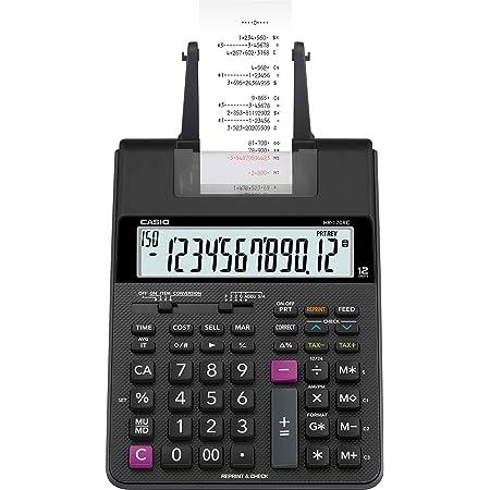 Casio HR8TM Single Color Portable Printing Calculator Black Ink