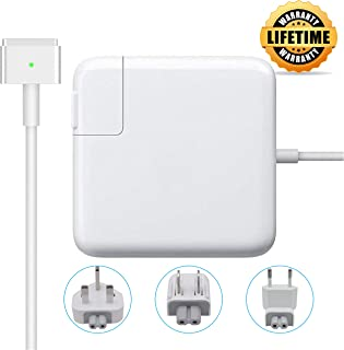 60W Compatible with MacBook Pro Charger, MacBook Air Charger, T-Tip Replacement Travel Plugs Bag, Magsafe 2 Magnetic T-Tip Power Adapter for Apple MacBook 13