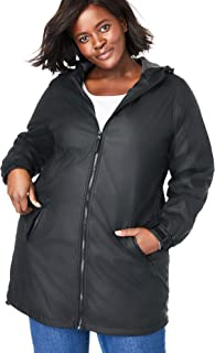 Women's Plus Size Hooded Slicker Raincoat