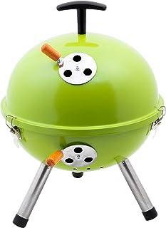 Kamino-Flam Mini-Bola BBQ con Tres Patas Barbacoa Redonda, Verde
