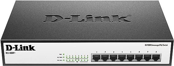 D-Link Systems 8-Port 10/100 Unmanaged Desktop/Rack Mount PoE+ Switch (DES-1008P+)