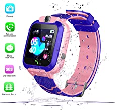 Kids Smart Watch GPS Tracke IP67 Waterproof - Boys Girls Smartwatches with SOS Camera Alarm Call Camera Alarm Games 1.44'' Touch Screen SOS Electronic Toy Birthday