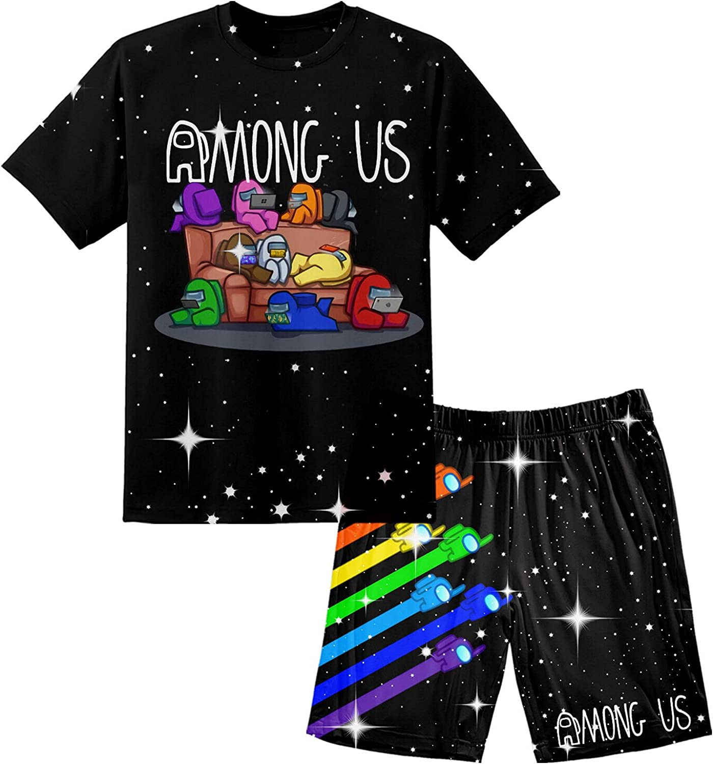 Max 90% OFF Youth Game Short Set Girls Boys and T-Sh Max 69% OFF Sleeve Summer