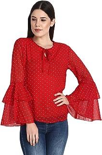 fbfec14bd0ce70 Amazon.in: Georgette - Tops, T-Shirts & Shirts / Western Wear ...