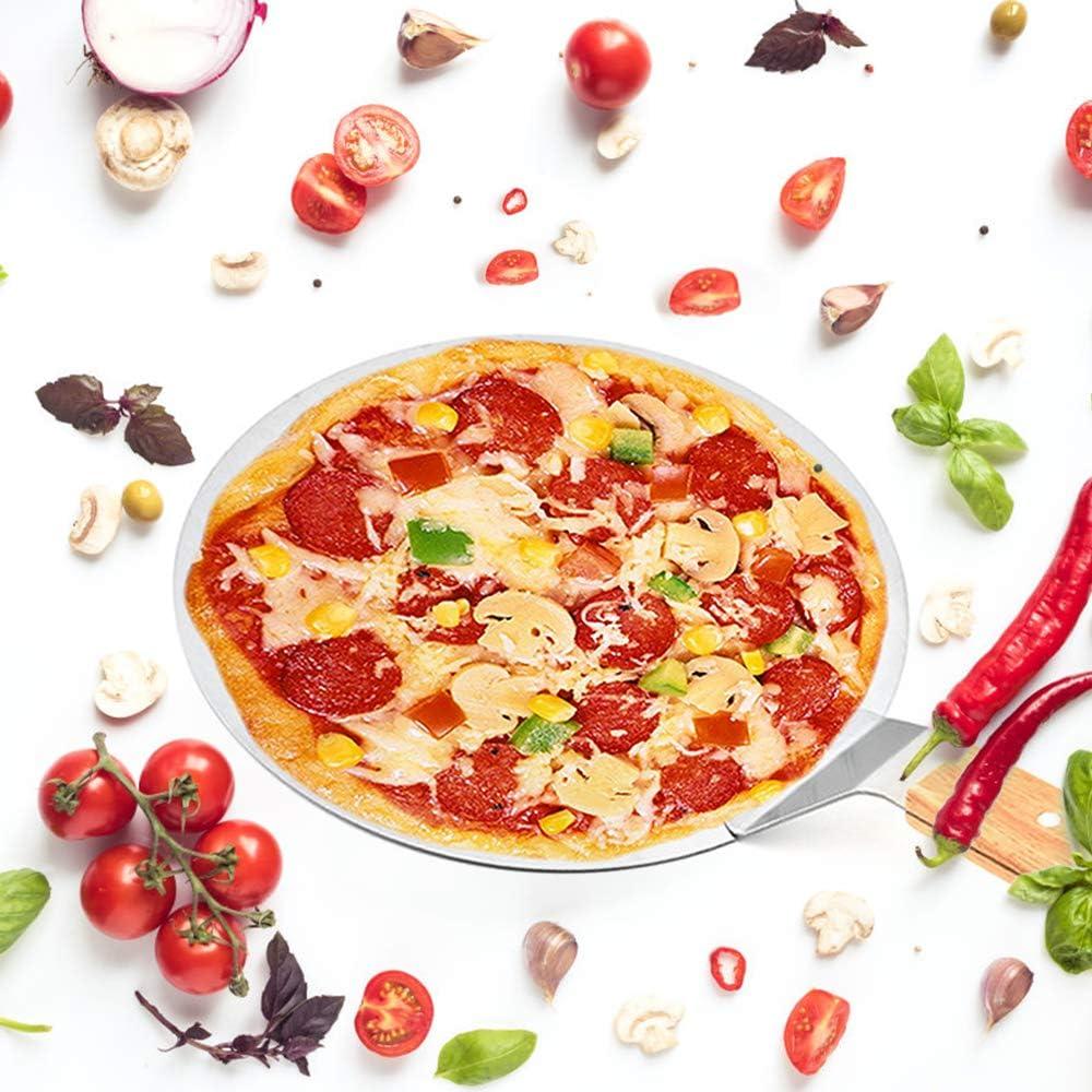 Ldawy Pelle /à Pizza Pelle /à G/âteau Spatule /à Pizza Pizza Peel en Acier Inoxydable Manche en Bois Id/éal pour Tarte Pizza ou G/âteau,10
