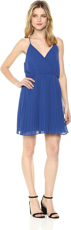 BCBGeneration Womens Surplice Pleated Dress Cocktail Dress