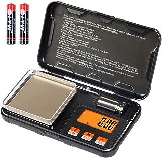 Disenkelubo Digital Mini Scale, 200g /0.01g Pocket Scale, 50g Calibration Weight, Electronic Smart Scale