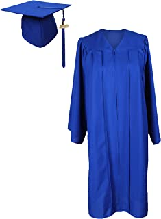 Graduation Gown with Cap and Tassel 2019 Unisex Matte Robe