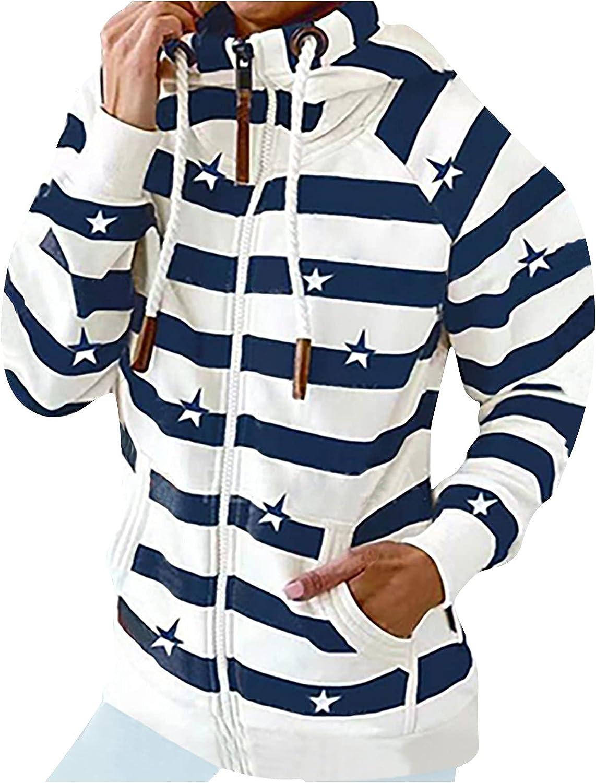 Sweatshirt for Seasonal Wrap Introduction Women Strip Printed Sle Tops Pullover Ranking TOP4 Long Hooded