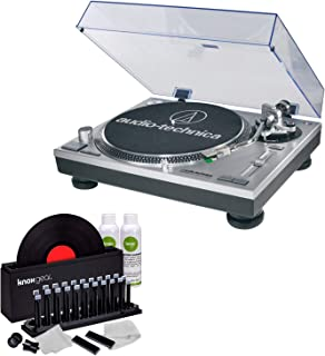 Audio-Technica AT-LP120-USB Direct-Drive Turntable (USB & Analog) with Knox Vinyl Cleaner Kit