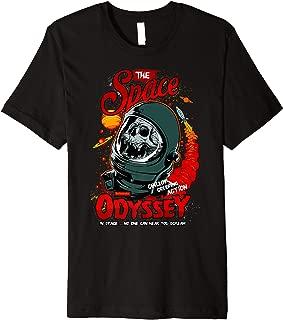 ROCKSTAR Skull in the Space - Zombie Astronaut - Odyssey Premium T-Shirt