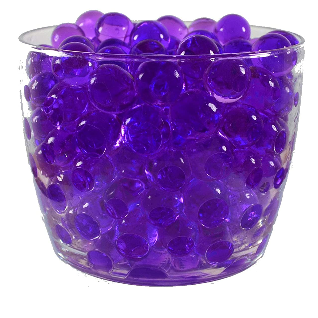 Water Pearls Gel Beads- Wedding & Event Centerpieces- Cosmo Beads (Tm)-makes 6 Gallons (8 Oz Pack) (Purple)