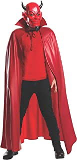 Rubie's Men's Scream Queens Deluxe Red Devil 3/4 Mask and Cape Set