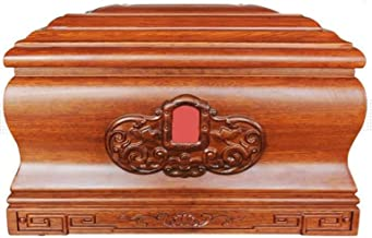 JIADUOBAO-urn Urns for Human Ashes, Cremation Urn Wooden Corrosion Resistance Keepsake Box Tree of Life Natural Pattern Cl...