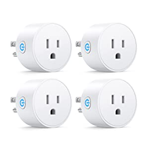 Smart Plug Compatible with Alexa and Google Home for Voice Control, Mini Smart Outlet WiFi Socket with Timer Function, Romte Control,No Hub Required, White FCC ETL Certified