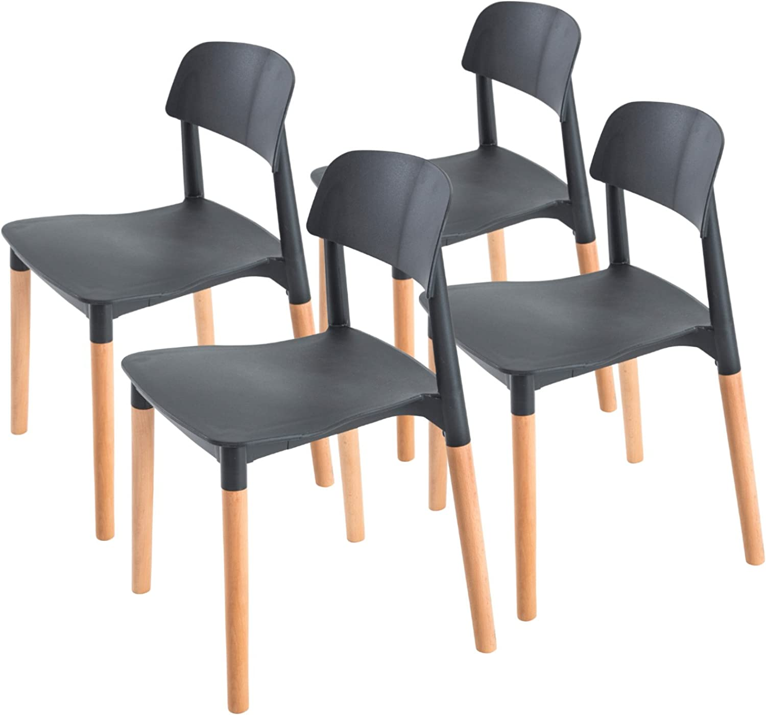 Replica Belloch Stackable Dining Chair - BLACK X4