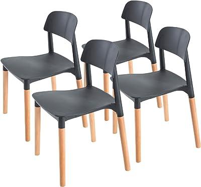 La Bella Replica Belloch Stackable Dining Chair - Black X4