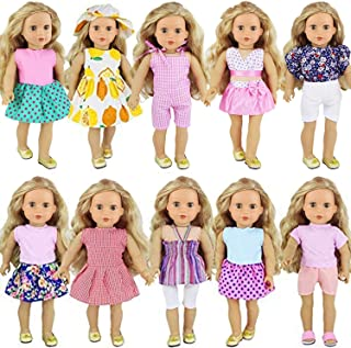 """ZITA ELEMENT 10 Sets Clothes for American 18 Inch Girl Doll 