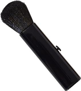 SC-704BK 六角館さくら堂 スライドチークブラシ 黒 山羊毛100% シンプルなデザイン 便利なケース付き