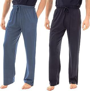 INSIGNIA Mens Jersefy Soft Plain Pyjamas Lounge Pants Bottoms Jersefy Soft (2 Pack)