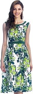 IDALIA Essentials Women's Sleeveless Casual Dress, Vintage Floral Print, High Waist