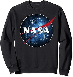 NASA Blue Galaxy Fill Classic Space Icon Sweatshirt