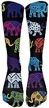Black Elephants Knee High Graduated Compression Socks For Women And Men - Best Medical, Nursing, Travel & Flight Socks - Running & Fitness