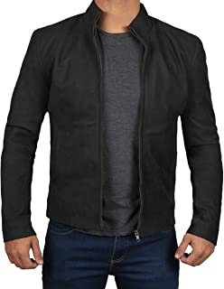 Decrum Mens Suede Jacket - Genuine Leather Suede Jacket for Men