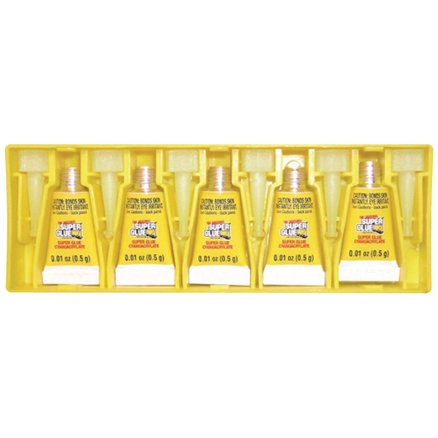 Super Glue The Original Superglue(r) 15175-12 Instant Adhesive Mini Tubes, 5 Pk