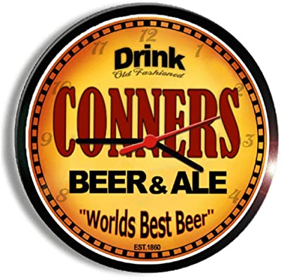 CONNERS beer and ale cerveza wall clock