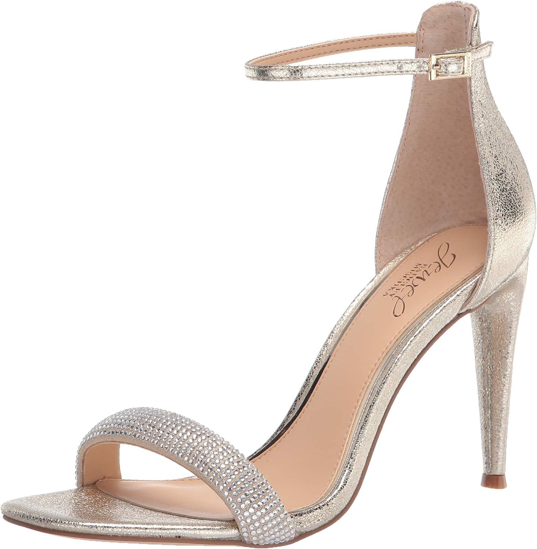 Jewel Badgley Mischka Women's Strap Sandal Ankle Wholesale Max 82% OFF Heeled